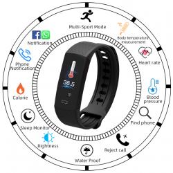 Laikrodis su kūno termometru