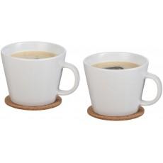Dviejų puodelių su padėklais rinkinys