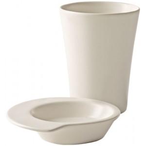 2 puodelių su lėkštutėmis rinkinys